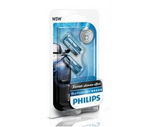 Авто-лампы W5W 12V 5W W2.1X9.5D T10 BLUEVISION 2 шт. (Philips, PS 12961 BV B2)