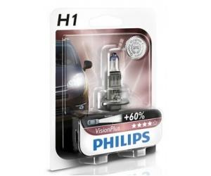 Авто-лампы  H1 12V 55W P14.5S VISIONPLUS 1 шт. (Philips, PS 12258 VP B1)