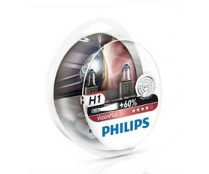 Авто-лампы  H1 12V 55W P14.5S VISIONPLUS 2 шт. (Philips, PS 12258 VP S2)