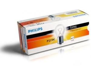 Авто-лампы P21W 12V 21W BA15S (ОДНОНИТ) 1 шт. (Philips, PS 12498 CP)