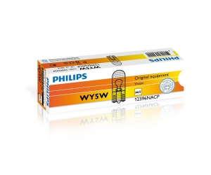 Авто-лампы WY5W 12V 5W W2.1X9.5D T10 AMBE 1 шт. (Philips, PS 12396 NA CP)