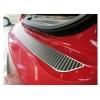 Накладка на задний бампер (карбон) для Nissan Micra IV (5D) 2010+ (Nata-Niko, B-NI03+k)