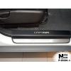 Накладки на пороги (карбон, 4 шт.) для Chevrolet Captiva II 2011+ (Nata-Niko, P-CH04+k)