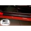 Накладки на пороги (карбон, 4 шт.) для Daewoo Matiz 1997-2004 (Nata-Niko, P-DW02+k)