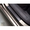 Накладки на пороги (карбон, 4 шт.) для Daihatsu Sirion 2008+ (Nata-Niko, P-DH02+k)
