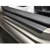 Накладки на пороги (карбон, 4 шт.) для Fiat 500L 2013+ (Nata-Niko, P-FI20+k)