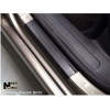 Накладки на пороги (карбон, 4 шт.) для Ford Kuga 2008-2012 (Nata-Niko, P-FO18+k)