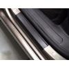 Накладки на пороги (карбон, 3 шт.) для Opel Movano B 2003+ (Nata-Niko, P-OP15+k)