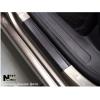 Накладки на пороги (карбон, 2 шт.) для Opel Vivaro 2001+ (Nata-Niko, P-OP21+k)