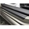 Накладки на пороги (карбон, 4 шт.) для Peugeot 3008 2009-2016 (Nata-Niko, P-PE03+k)