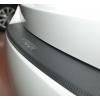 Накладка с загибом на задний бампер (карбон) для Nissan Tiida (4D) 2007+ (NataNiko, Z-NI10+k)