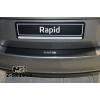 Накладка с загибом на задний бампер (карбон) для Skoda Rapid 2013+ (NataNiko, Z-SK10+k)