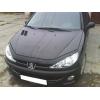 Дефлектор капота для Peugeot 206 1998+ (VIP, PG01)