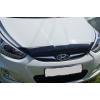 Дефлектор капота (короткий) для Hyundai Accent/Solaris 2010-2014 (SIM, SHYSOL1012s)