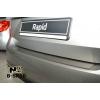 Накладка на задний бампер для Skoda Rapid 2013+ (Nata-Niko, B-SK10)