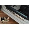 Накладки на пороги (4 шт.) для Alfa Romeo Giulietta 2013+ (Nata-Niko, PS-AR07)