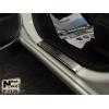 Накладки на пороги (4 шт.) для Fiat 500L 2013+ (Nata-Niko, P-FI20)