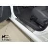 Накладки на внутренние пороги (4 шт.) для MG 6 2012+ (Nata-Niko, P-MG03)