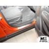 Накладки на внутренние пороги (4 шт.) для Opel Mokka 2013+ (Nata-Niko, P-OP24)