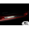 Накладки на внутренние пороги (4 шт.) для Renault/Dacia Sandero II 2013+ (Nata-Niko, P-RE30)