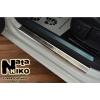 Накладки на пороги (4 шт.) для Volkswagen Golf VII 2012+ (Nata-Niko, P-VW38)