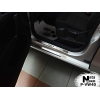 Накладки на пороги (8 шт.) для Volkswagen Golf Sportsvan 2014+ (Nata-Niko, P-VW40)