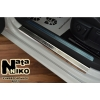 Накладки на пороги (4 шт.) для Volvo V40 2012+ (Nata-Niko, P-VO01)