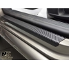 Накладки на пороги (карбон, 2 шт.) для Kia Cerato Koup II 2013+ (Nata-Niko, P-KI23+k)