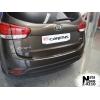 Накладка с загибом на задний бампер для Kia Carens IV 2012+ (NataNiko, Z-KI10)