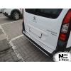Накладка с загибом на задний бампер для Peugeot Partner II 2013+ (NataNiko, Z-PE12)