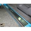 Накладки на внутренние пороги для Opel Corsa D (3D) 2006+ (Nata-Niko, P-OP10)