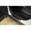Накладки на внутренние пороги для Peugeot 4008 2011+ (Nata-Niko, P-PE22)