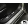 Накладка на внутренний пластик порогов для Fiat 500 2007+ (NATA-NIKO, PV-FI02)