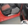 Накладка на внутренний пластик порогов для Hyundai I20 FL 2012+ (NATA-NIKO, PV-HY09)