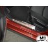 Накладка на внутренний пластик порогов для Mazda 3 III (4D) 2013+ (NATA-NIKO, PV-MA13)