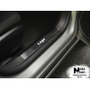 Накладка на внутренний пластик порогов для Opel Astra III H (4D/5D) 2004-2009 (NATA-NIKO, PV-OP04)