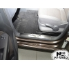 Накладка на внутренний пластик порогов для Volkswagen Caddy III/IV 2004+/Touran II 2015+ (NATA-NIKO, PV-VW02)