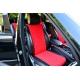 Накидки на сиденья автомобиля (передние, к-кт. 2 шт.) (AVTOРИТЕТ, red)