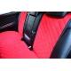 Накидки на сиденья автомобиля (задние, к-кт. 3 шт.) (AVTOРИТЕТ, red)