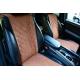 Накидки на сиденья автомобиля (передние, к-кт. 2 шт.) (AVTOРИТЕТ, brown)