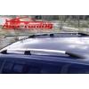 Рейлинги алюминиевые (концевики ABS.) для Volkswagen Caddy 2005- (Can-Otomotive, VWCAIABSSMT1)