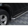 Боковые пороги D51 с листом из нержавеющей стали для Mitsubishi Outlander XL 2006-2012 (ARP, ST.KB001)