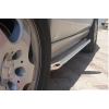 Боковые пороги D60 с листом из нержавеющей стали для Mercedes W163 ML 1998-2005 (ARP, ST.KB001D60)