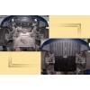 Защита картера двигателя для BMW E65 2001-2008 (735/745 4,5; 3,6) (POLIGONAVTO, D)