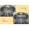 Защита картера двигателя для Chery QQ 2007-2010 (1,1) (POLIGONAVTO, St)