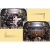 Защита картера двигателя для Fiat Albea 2006+ (1,4 MКПП) (POLIGONAVTO, St)