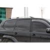 Алюминиевые рейлинги на крышу (пластиковые ножки) для Toyota LC Prado 120 2002+ (Erkul, TPRRL.02)
