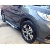 Боковые пороги (Line) для Chevrolet Trax 2013+ (Erkul, CHT13RB4B163LN)