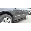 Боковые пороги (Allmond Black) для Ford Ranger 2012+ (Erkul, FDRG12RB6B193AMB)