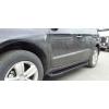 Боковые пороги (Allmond Black) для Mazda BT-50 2012+ (Erkul, MZBT12RB6B193AMB)